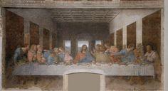 Het Laatste Avondmaal ~ ca. 1496 ~ Fresco met gemengde technieken ~ 460 x 880 cm. ~ Refectorium van de Santa Maia della Grazie, Milaan