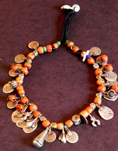 Moroccan necklace - coral and silver