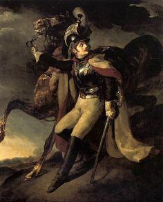 El oficial herido de la Guardia Imperial Dejando el campo de batalla Theodore Gericault Museo de Louvre