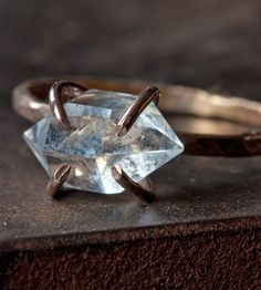 Herkimer Diamond Rose Gold Ring by Alexis Russell on Scoutmob