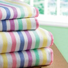 Candy-striped flannelette sheets and pillowcases are almost as popular today as they were back in my childhood. 1980s Childhood, My Childhood Memories, Flannelette Sheets, 80s Kids, Kids Tv, I Remember When, Candy Stripes, Thing 1, My Memory