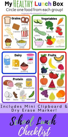 kids nutrition My Healthy Lunch Box Checklist Packing School Lunches, Healthy School Lunches, Healthy Packed Lunches, Healthy Lunch Foods, Packing Lunch, Sport Nutrition, Kids Nutrition, Healthy Nutrition, Holistic Nutrition