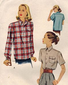 1940s McCall 6709 UNCUT Vintage Sewing Pattern by midvalecottage, $14.00