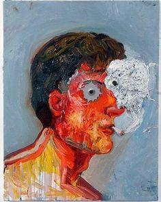 Nicole Eisenman  Smokey Eye  2006  Oil on canvas  #art...