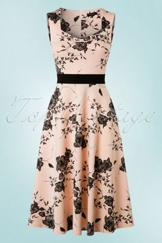 Vintage Chic Veronica Nude Dress Flower Print 102 29 19386 20160629 0003W