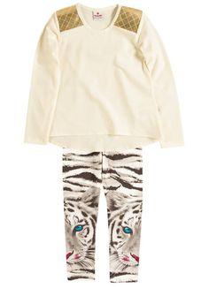 Novidades #inverno2015 #invernoPurezaBaby  Conjunto Blusa e Calça legging estampada   R$ 85,90 - disponível do 4 ao 10  Link para compra http://purezababy.com.br/conjunto-blusa-calca-legging-onca-brandili-1.html
