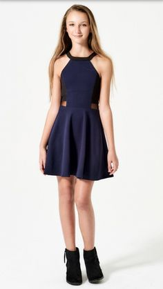 The stunning Sally Miller Brynn in Navy/Black. The stunning Sally Miller Brynn in Navy/Black. The stunning Sally Miller Brynn in Navy/Black. The stunning Sally Miller Brynn in Navy/Black. Grad Dresses, Dresses For Teens, Dance Dresses, Cute Dresses, Casual Dresses, Fashion Dresses, Tween Fashion, Girl Fashion, Girls Navy Dress