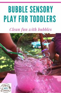 Bubbles are such a fun summer activity for kids of all ages. This bubble sensory play bin is so much fun! Endless hours of play for toddlers. Kids Learning Activities, Summer Activities For Kids, Sensory Bins, Sensory Play, Bubble Wands, Problem Solving Skills, Creative Kids, Getting Old, Little Babies