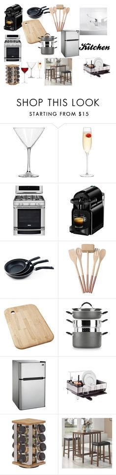 """To buy kitchen"" by krisztina-holovcsak on Polyvore featuring interior, interiors, interior design, home, home decor, interior decorating, Libbey, LSA International, Electrolux and Nespresso"