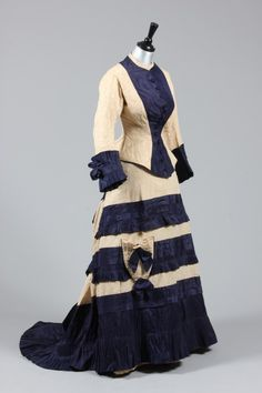 Day dress, late 1870's  From Kerry Taylor Auctions