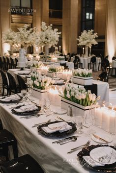 Chic Modern Black And White Wedding At One King West - Wedding Decor Toronto Rachel A. Clingen Wedding & Event Design