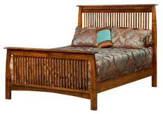 Mission Beds - Bedroom Furniture - Amish Oak in Texas