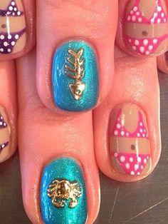 The Summer Beauty Bucket List #beach #nails #polkadotbikini