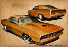 Bad Fish, via my Behance portfolio. A '71 Hemi 'Cuda for a client project.