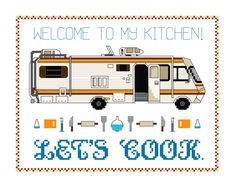 Cross Stitch Pattern  Let's cook RV plus bonus mini