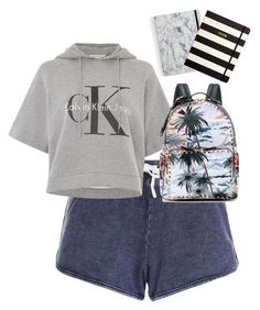 """""""MIDTERM WEEK"""" by hannawida ❤ liked on Polyvore featuring Calvin Klein, Valentino and Kate Spade"""