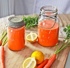 Carrot Lemonade... I am going to make some of this up right away!! Looks beautiful and a friend made it saying, she could have drank the entire thing by herself it was so delicious!!