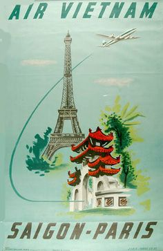 Air Vietnam Saigon-Paris by Boeing B-707 Ad in the 1970's