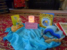 waldorf summer circle time set-up