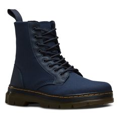 Dr. Martens Men's Combs Washed Canvas Combat Boot *** Click on the image for additional details. #womensboots