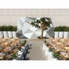 Wedding More Wedding Ceremony Arch, Wedding Aisle Decorations, Wedding Scene, Backdrop Decorations, Geometric Wedding, Backdrops For Parties, Rustic Wedding, Event Design, Weddings