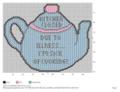 SICK OF COOKING TEA POT WH