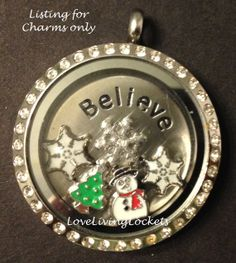 Winter Theme Snowflake Snowman Snow Christmas Tree Floating Charms Lot/Set for Origami Owl Living Lockets* Charms Only on Etsy, $16.99