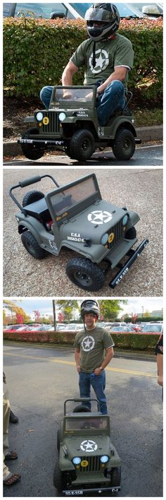 Make a Racing Powerwheels Jeep Mini Jeep, Mini Bike, Jeep Wj, Jeep Truck, Power Wheels Jeep, Monster Trucks, Kids Ride On, Ford, Pedal Cars