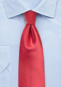 Solid Color Tie in Coral | Bows-N-Ties.com