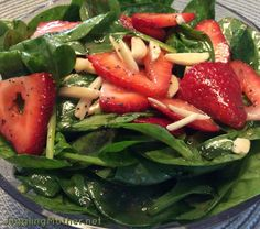 Healthy Meals - Spinach & Strawberry Salad with Poppy Seed Dressing