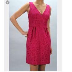 Trina Turk hot pink lace sleeveless  dress New with tag , size 2 , sleeveless , fully lined Trina Turk Dresses Midi