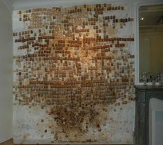 "Fondation SAM Art Projects : ""Carte Blanche à la Villa Raffet"" du ... Tea Bag Art, Tea Art, Pablo Picasso, Used Tea Bags, Coffee Art, Textile Art, Textile Design, Wood Sculpture, Textures Patterns"