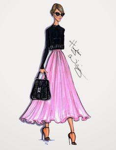 #Hayden Williams Fashion Illustrations #Style On The Go: Jessica Alba by Hayden Williams