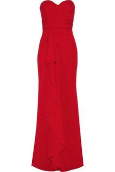 BADGLEY MISCHKA Draped silk-blend gown $279.65 http://www.theoutnet.com/products/629883