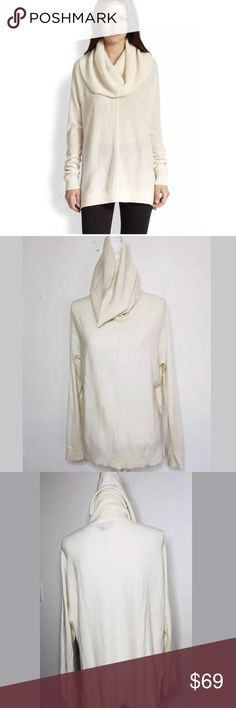 vince natural wool cashmere sweater lg vince sweater is understated gorgeous in a natural