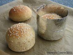Hayley's Cuisine: Homemade hamburger buns. Shape with tinfoil!