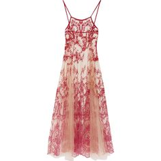 I.D. Sarrieri La Naissance de Venus embroidered tulle nightdress ($1,285) ❤ liked on Polyvore featuring intimates, sleepwear, nightgowns and claret
