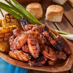These grilled teriyaki chicken wings are not only juicy but also very tasty and perfect as an appetizer or full meal. Smoked Meat Recipes, Yummy Chicken Recipes, Yum Yum Chicken, Spicy Recipes, Teriyaki Chicken Wings, Grilled Teriyaki Chicken, Grilled Chicken Wings, Smoked Chicken, Abalone Recipe