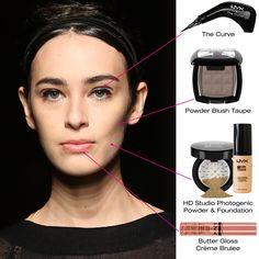 A maquiagem do desfile da marca Tracy Reese na semana de moda de Nova Iorque foi criação da equipe de maquiadores da NYX