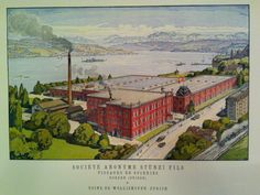 Fabrik Stünzi (Rote Fabrik), ca. 1915