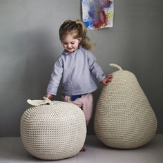 These voluminous fruits. | 21 Gigantic Knitted Things You'd Love To Cuddle Up With