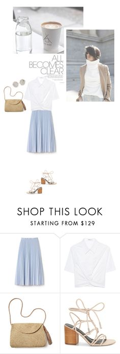 """All Becomes Clear"" by catchsomeraes ❤ liked on Polyvore featuring Lacoste, T By Alexander Wang, Mar y Sol, Rebecca Minkoff, Dolce&Gabbana, StrawBag and blockheels"