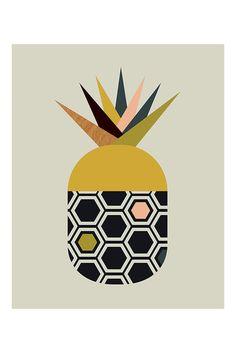 Pineapple Canvas Print By Little Design Haus, 50 x 40cm