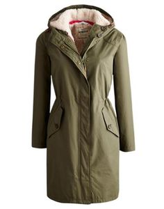 Joules Womens Waterproof Parka, Grape Leaf.                     This long length, 100% waterproof jacket with a generous hood is a real lifesaver for when the rain won't go away or when you just need to grab a versatile cover up.  It's breathable and waterproof and with an inner drawstring to cinch in the waist and add shape it's flattering too.