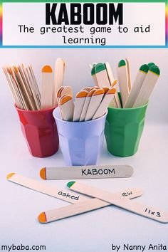 Kaboom: the greatest game to aid learning on any topic. Great for classrooms, homeschooling or revision. Math Card Games, Fun Math Games, Classroom Games, Math Activities, Classroom Setting, Thanksgiving Math, Christmas Math, Kindergarten Thanksgiving, Home Learning
