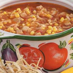 Crock Pot Spicy Chicken Tomato Soup - 5 Points +