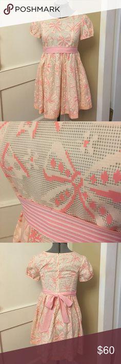 "Jane Marple Japanese Lolita kawaii dress Bought from the secondhand Lolita store in Shimokitazawa, Japan. Light pink bows on light pink dress. Detachable waist ribbon. Zipper up back. Waist to skirt bottom 19"" Jane Marple Dresses Mini"