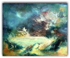 The sea .  Large hand embellished giclee  Art di Ellenysgallery, $349.00