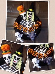 7 Creatively Crocheted Halloween Wreaths from the Crochet Crowd Challenge! | Lion Brand Notebook