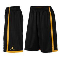 aa548ffb550 Mens Nike Air Jordan Crossover Basketball Shorts Black Orange Size L